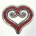 Picture of Mosaic Koru Heart Red