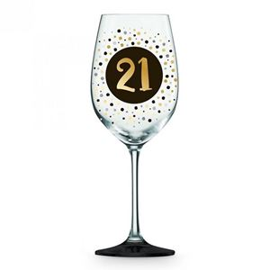 Picture of 21st Black Gold Wine glass