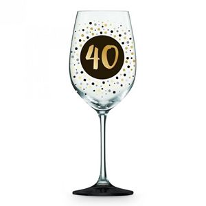 Picture of 40th Black Gold Wine glass