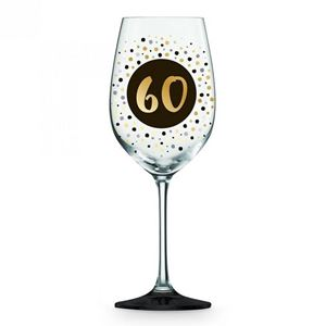 Picture of 60th Black Gold Wine glass