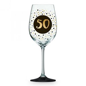 Picture of 50th Black Gold Wine glass