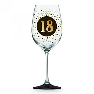 Picture of 18th Black Gold Wine glass