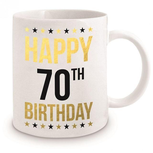 70th Birthday Gold Mug