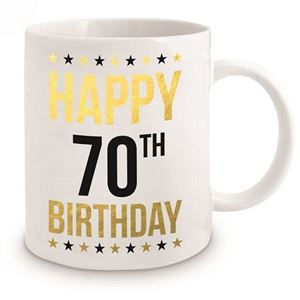 Picture of 70th Birthday Gold Mug