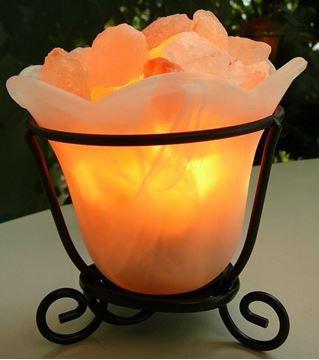 Picture of Salt lamp glass/salt blocks