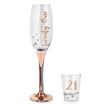 Picture of 21 rose gold glass set