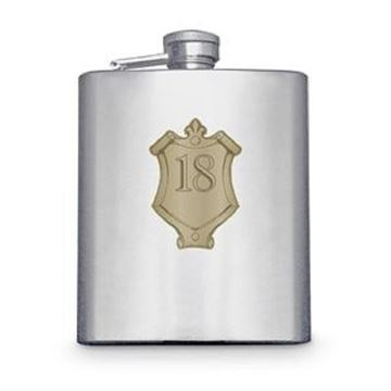 Picture of 18 badge hipflask