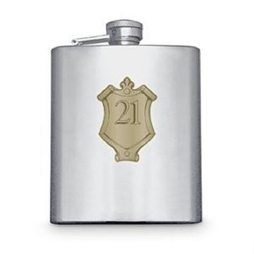 Picture of 21 badge hipflask