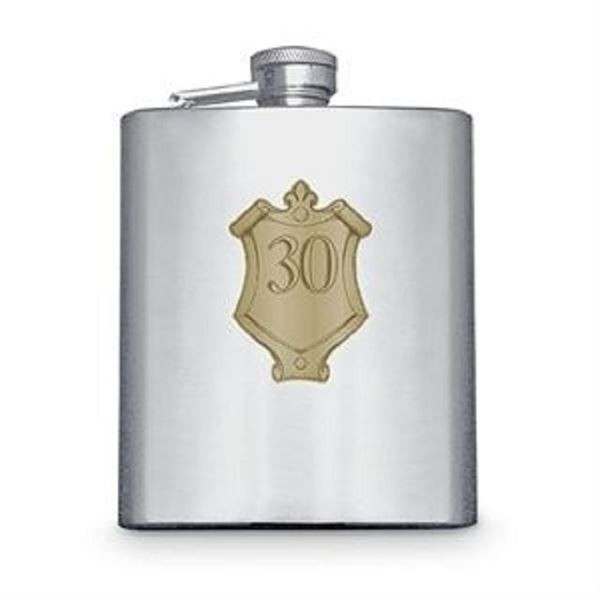 Picture of 30 badge hipflask