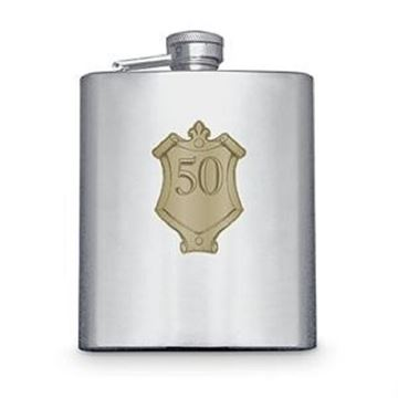 Picture of 50 badge hipflask