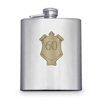 Picture of 60 badge hipflask