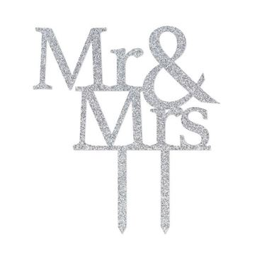 Picture of Wedding cake topper mr & mrs