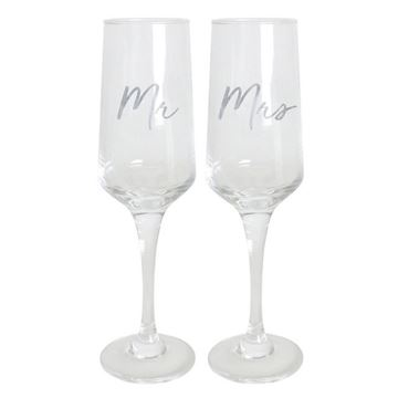 Picture of Champagne flute mr & mrs