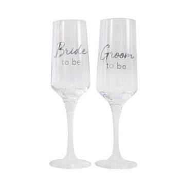 Picture of Bride/groom to be flute set