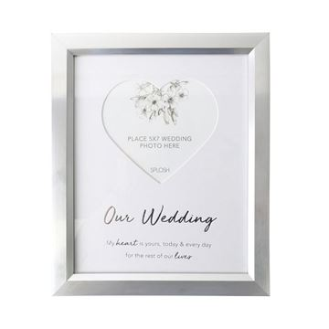 Picture of Wedding heart 5x7 frame