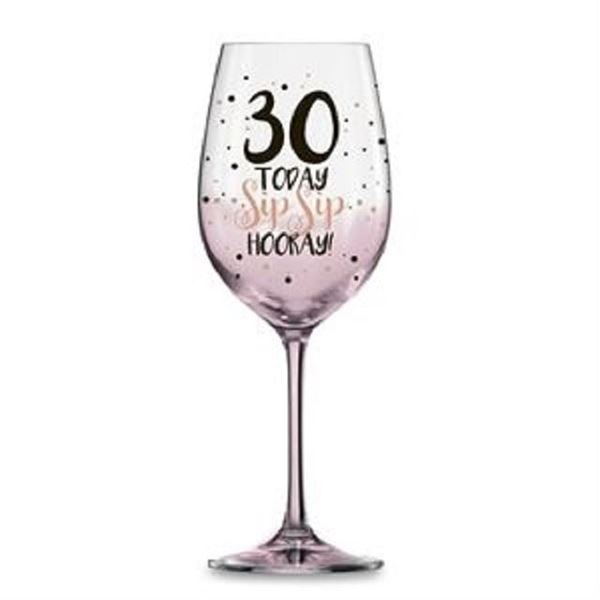 Picture of 30 pink sip sip hooray w/glass