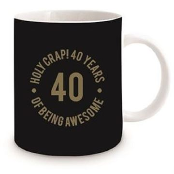 Picture of 40th black mug