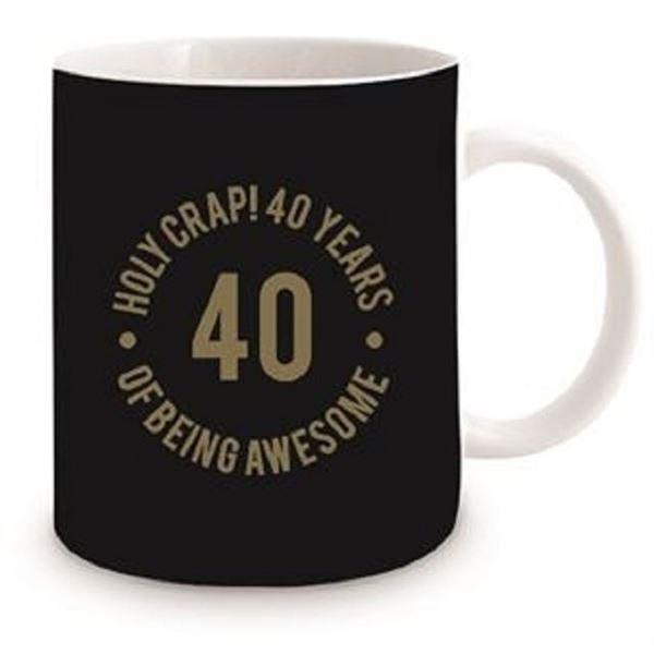 Picture of 40th black mug