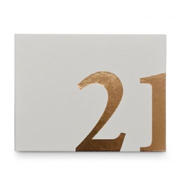 Picture of 21 guest book white/gold