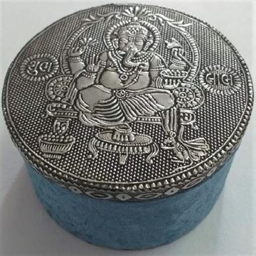 Picture of Jewellery box round ganesh