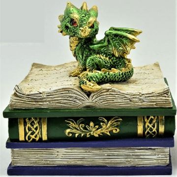 Picture of Green dragon on book box