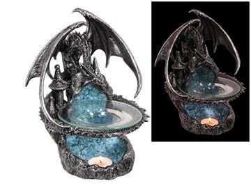 Picture of 23cm silver dragon oil burner