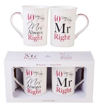 Picture of Mr & mrs 40th anni mugs