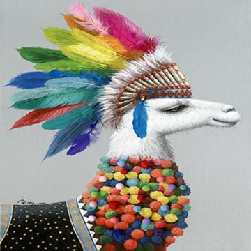Picture of Chief llama 60x90