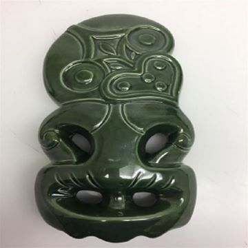Picture of 30cm tiki ceramic wall art