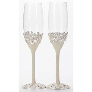 Picture of Champagne glasses pearl