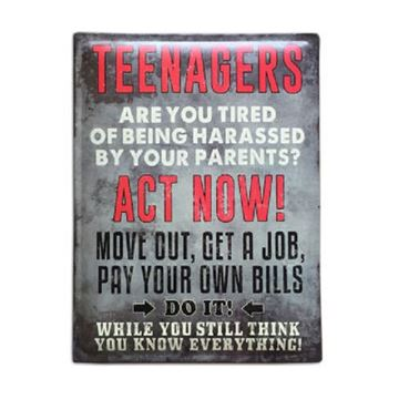 Picture of Teenagers sign