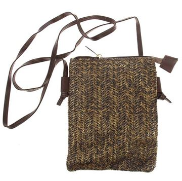 Picture of Brown straw phone bag