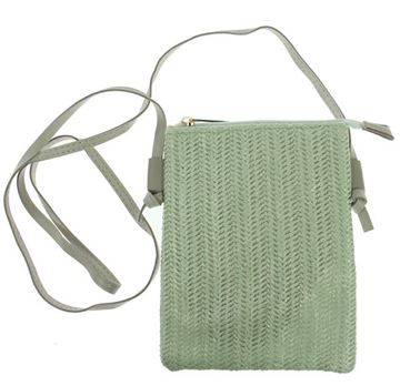 Picture of Mint straw phone bag