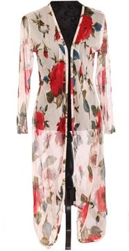Picture of Red rose long coat