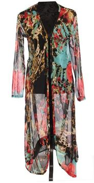 Picture of Floral animal long coat