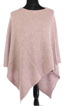 Picture of Grey melange knit poncho
