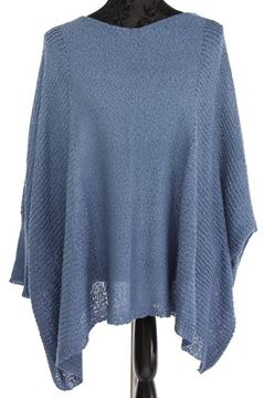 Picture of Blue poncho w/drop sleeve