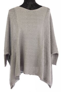 Picture of Grey poncho w/drop sleeve