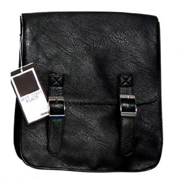 Picture of The uni satchel worn black