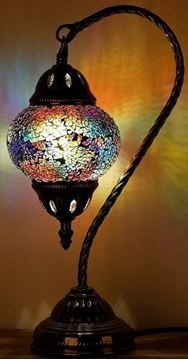 Picture of Turkish mosiac lamp swan