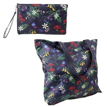 Picture of Bag zip folding bird flower