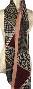 Picture of Animal print mosaic scarf