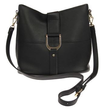 Picture of Black tote bag contrast strap