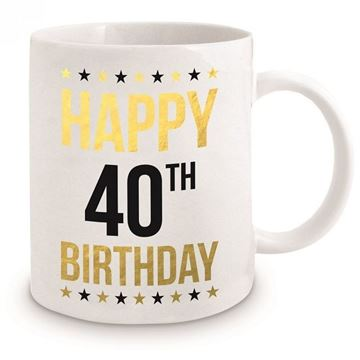 Picture of 40th gold mug