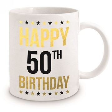 Picture of 50th gold mug