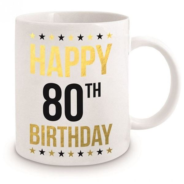 Picture of 80th gold mug