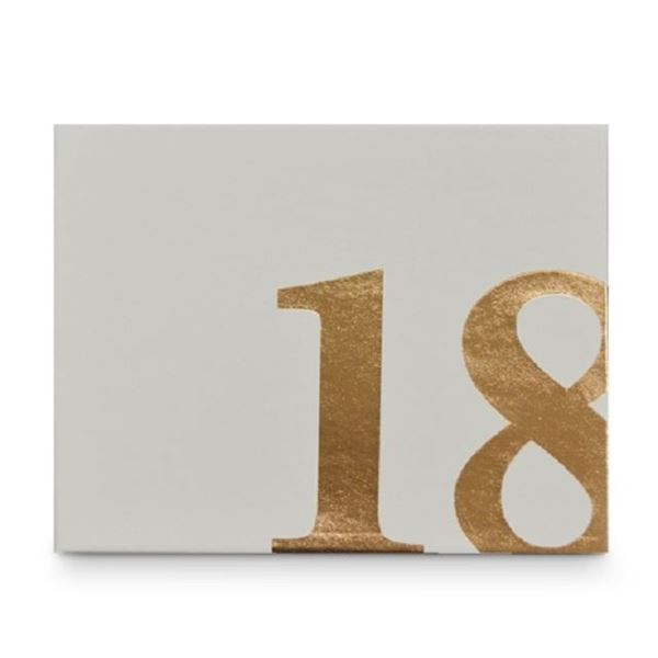 Picture of 18 guest book white/gold