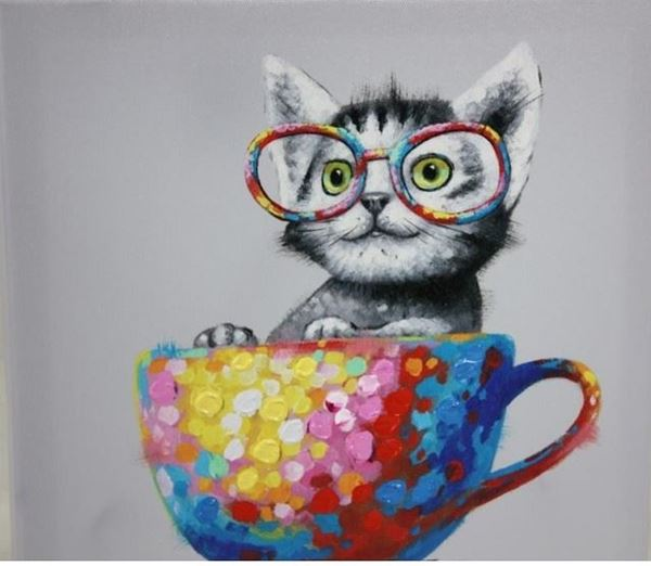 Picture of Cuppa kitty 30x30