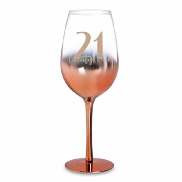 Picture of 21 rose gold wine glass