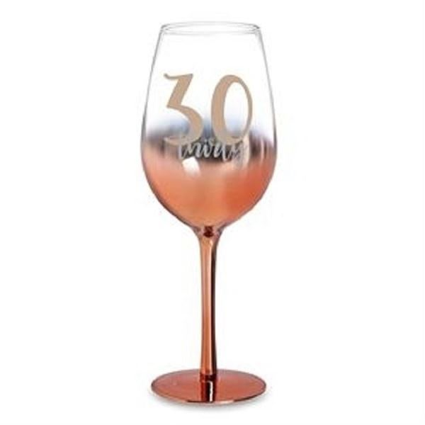 Picture of 30 rose gold wine glass